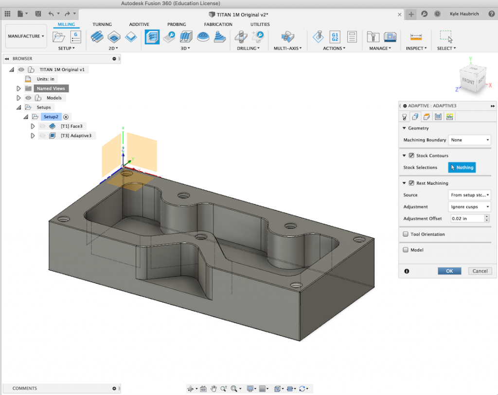 3D Adaptive Clearing - Heights Tab, Autodesk Fusion 360
