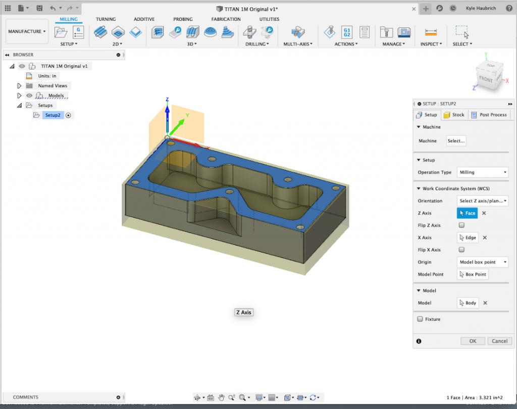 Set-Origin x-y-z Autodesk 360