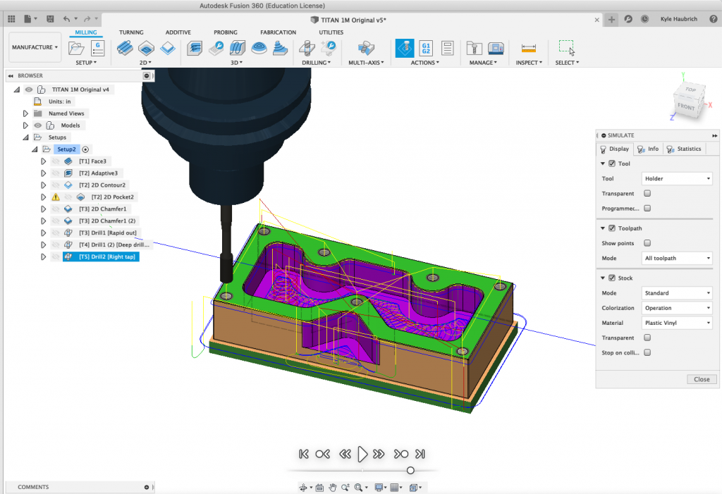 Simulate Part - Fusion 360